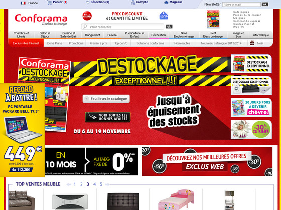 avis conforama lire donner son avis sur le site conforama shop opinion. Black Bedroom Furniture Sets. Home Design Ideas