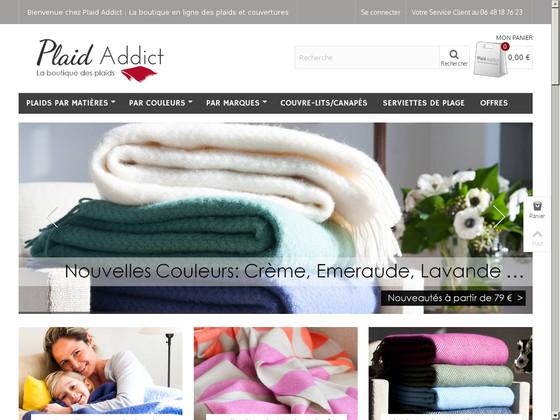 avis plaid addict lire donner son avis sur le site plaid addict shop opinion. Black Bedroom Furniture Sets. Home Design Ideas